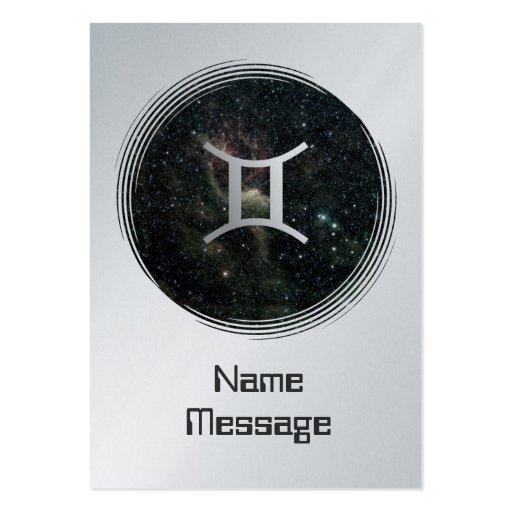 Gemini Twins Zodiac Star Sign Universe Business Card