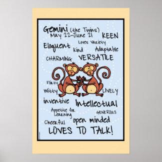 Gemini wordcloud  poster