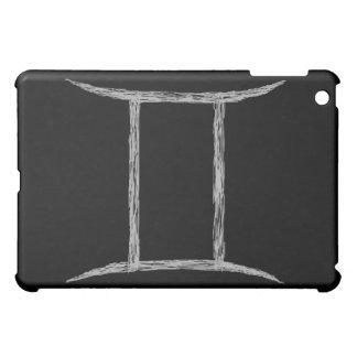 Gemini. Zodiac Astrology Sign. Black. iPad Mini Cover