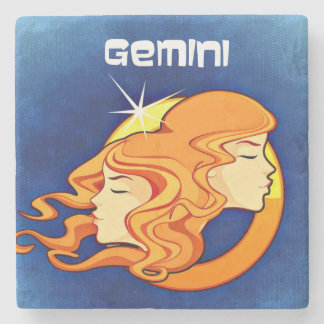 Gemini Zodiac Astrology Symbol Stone Coaster