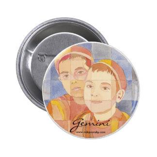 Gemini Zodiac Buttons