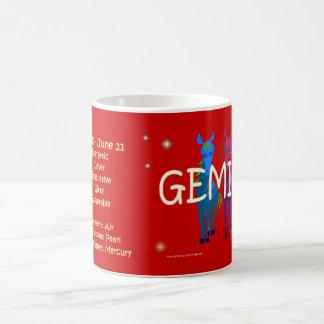 Gemini zodiac character coffee mug
