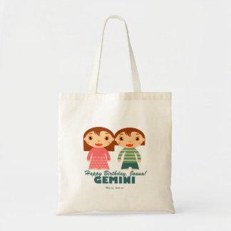 Gemini Zodiac for kids Budget Tote Bag