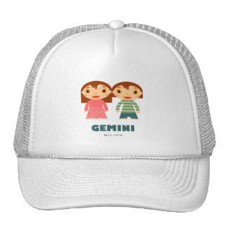 Gemini Zodiac for kids Mesh Hats