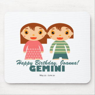 Gemini Zodiac for kids Mouse Pad