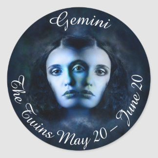 Gemini Zodiac Horoscope Mystical Twins Sticker