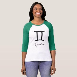 Gemini Zodiac Horoscope Sign Lime Green Shirt