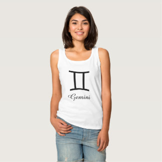 Gemini Zodiac Horoscope Sign Tank Top