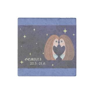 Gemini zodiac Marble Stone Magnet