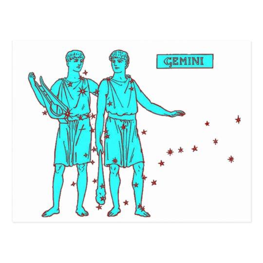 Gemini Zodiac Postcard