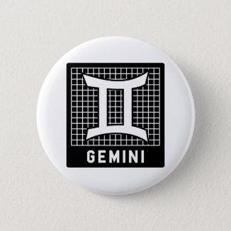 Gemini Zodiac Sign Button Pin