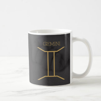 Gemini Zodiac Sign | Custom Background + Text Coffee Mug