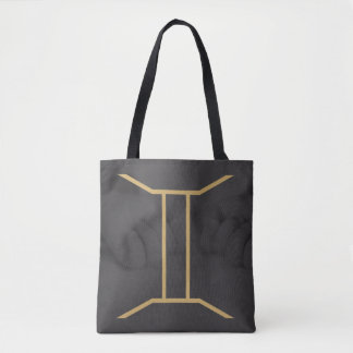 Gemini Zodiac Sign | Custom Background Tote Bag