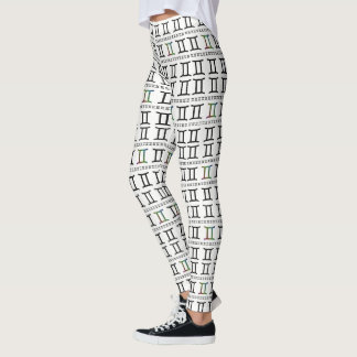 Gemini Zodiac Sign Pattern Leggings