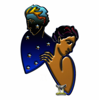 Gemini Zodiac Sign Standing Photo Sculpture