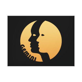 Gemini Zodiac Sign Stretched Canvas Prints