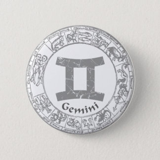 Gemini Zodiac sign vintage 6 Cm Round Badge