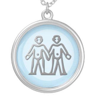 Gemini Zodiac Star Sign In Light Silver Custom Jewelry