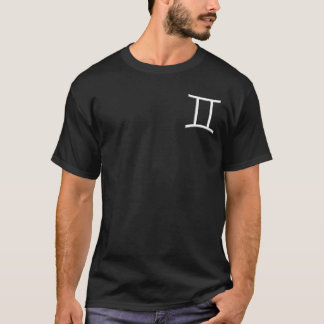 Gemini Zodiac Symbol Black T-Shirt
