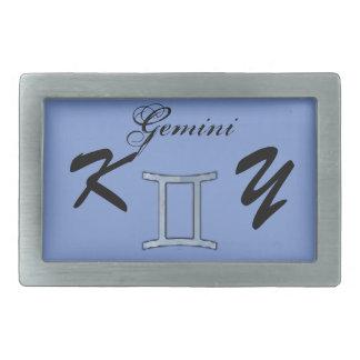 Gemini Zodiac Symbol Element by Kenneth Yoncich Belt Buckle