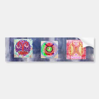 GEMINI Zodiac Symbols Bumper Sticker