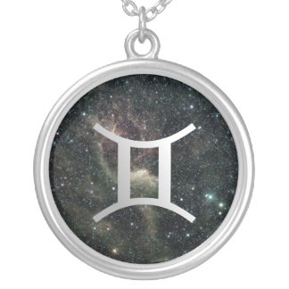 Gemini Zodiac Universe Sterling Silver Jewelry