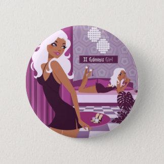 Geminis Girl 6 Cm Round Badge