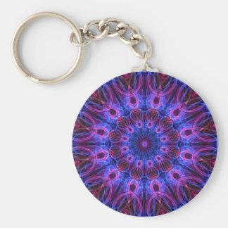 GemRings kaleidoscope Basic Round Button Key Ring