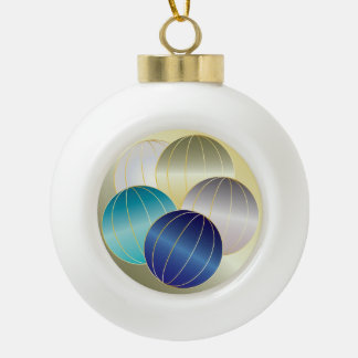 Gems and Jewels for Christmas Ceramic Ball Decoration