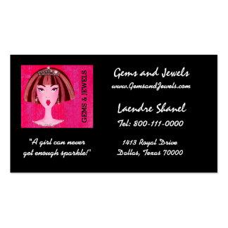 """Gems & Jewels"" DIVA Business Cards"