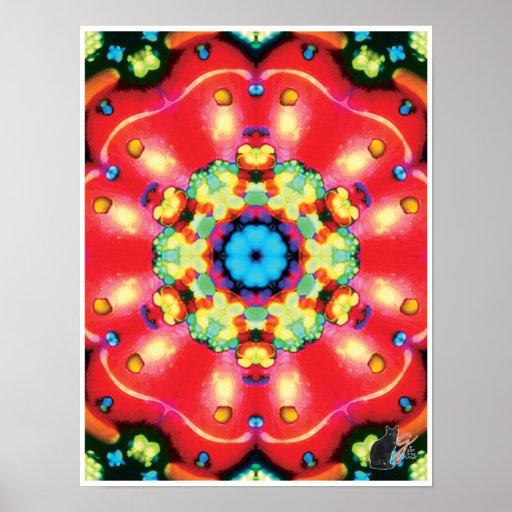 Gems Kinetic Collage Kaleidoscope Poster