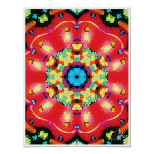 Gems Kinetic Collage Kaleidoscope Poster