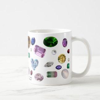Gems on White Basic White Mug