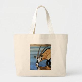 Gemsbok Africa Wild Life Animal Oil Painting Bags