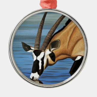 Gemsbok, Africa, Wild Life, Animal, Oil Painting Christmas Ornament