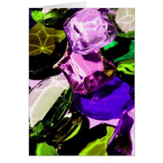 gemstone abstract greeting card
