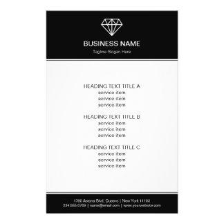 Gemstone Diamond Logo Black White Modern Look 14 Cm X 21.5 Cm Flyer