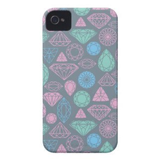 Gemstone Icon Pattern iPhone 4 Covers
