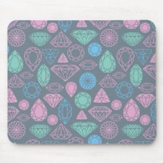 Gemstone Icon Pattern Mouse Mat