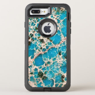 Gemstone Series - Turquoise Mosaic OtterBox Defender iPhone 8 Plus/7 Plus Case