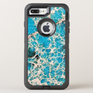 Gemstone Series - Turquoise Roadmap OtterBox Defender iPhone 8 Plus/7 Plus Case