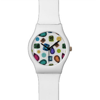 Gemstones Watch (White)