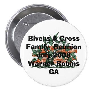 gen emblem, Bivens & CrossFamily  ReunionJuly 2... 7.5 Cm Round Badge