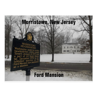 Gen George Washington's HQ 1779-80 Morristown, NJ Postcard