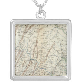 Gen map I Silver Plated Necklace