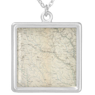 Gen map IX Silver Plated Necklace