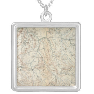Gen map VI Silver Plated Necklace