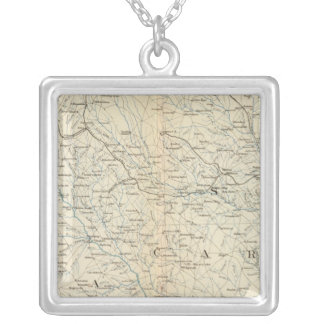 Gen map VIII Silver Plated Necklace