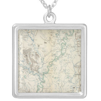 Gen map XIX Silver Plated Necklace
