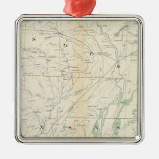 Gen map XVIII Silver-Colored Square Decoration